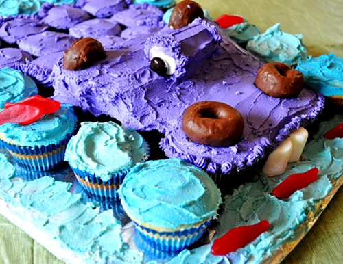 Now That Ive Laid Out All The Nitty Gritty Details Heres What Youve Been Waiting For How To Make Your Hippo Cupcake Cake