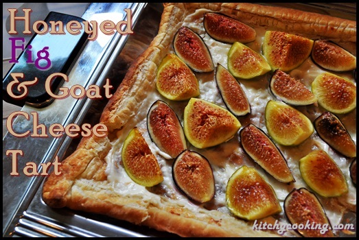 Honeyed Fig and Goat Cheese Tart - Kitchy Cooking