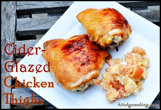 Cider-Glazed Chicken Thighs - Kitchy Cooking