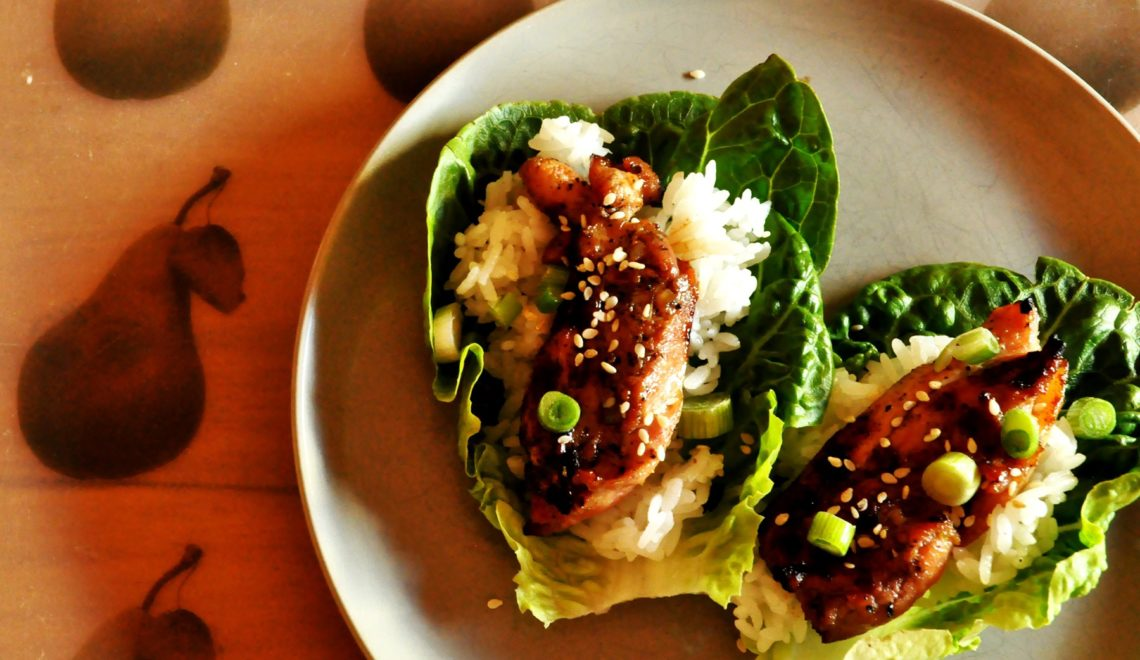 Korean Barbecued Chicken Lettuce Cups