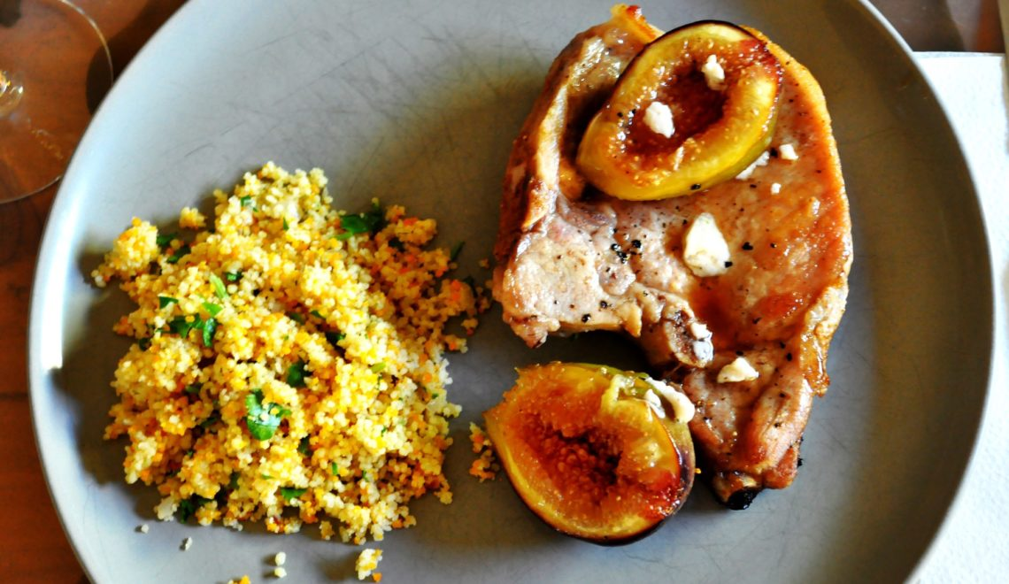 Pan-Seared Pork Chops with Figs